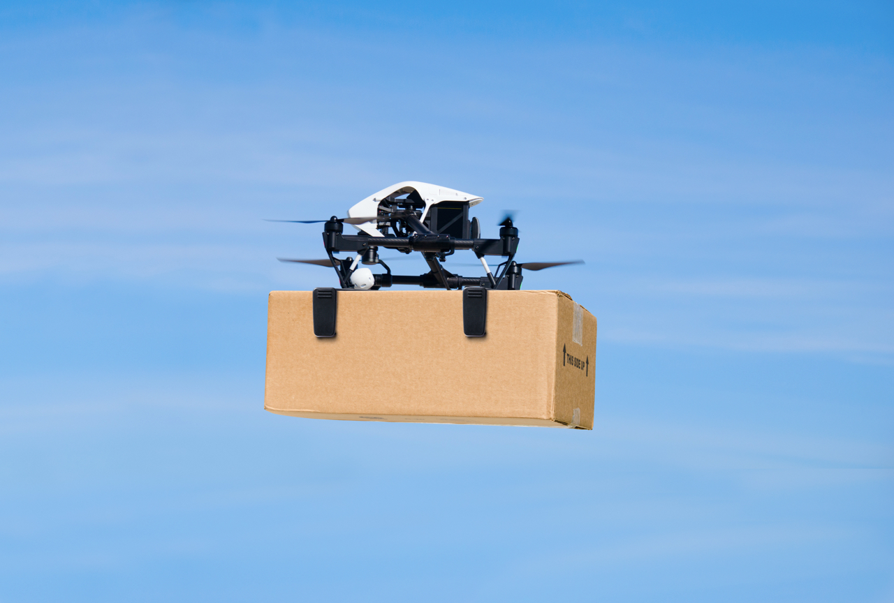 drone-delivering-box-package-on-delivery-flight
